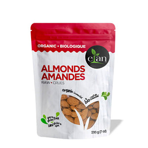 Elan Organic Raw Almonds (8-pack)