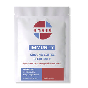 Organic Immunity Booster Herbal Ground Coffee Pour Overs (5-pack)