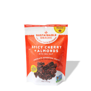 Spicy Cherry Almond Chocolate Clusters