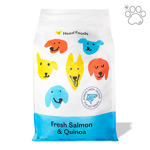Dog Kibble - Fresh Salmon and Quinoa (Puppy-Adult)