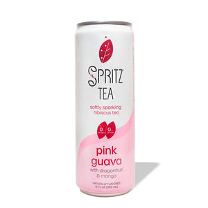 Pink Guava Softly Sparkling Hibiscus Tea (12-pack)