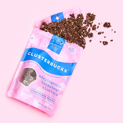 Chocolate Reishi Buckwheat Clusterbucks Granola (pack)
