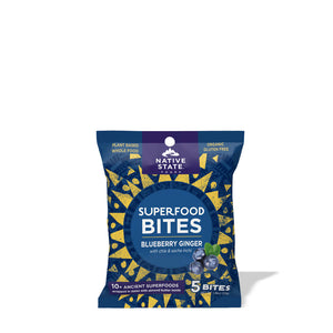 Blueberry Ginger Superfood Snack Bites (8-pack)