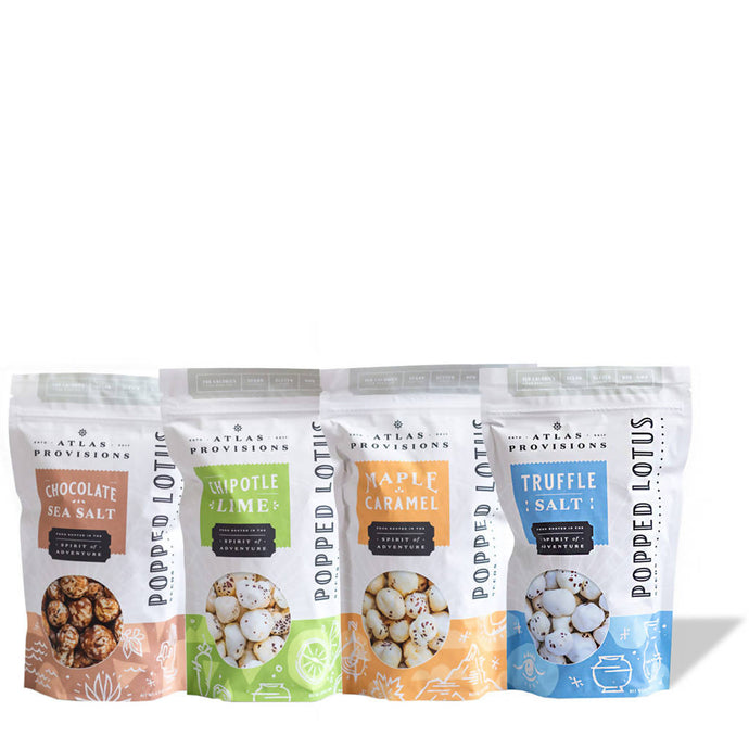 Popped Lotus Seeds Sampler (4-pack)