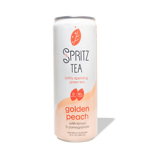 Golden Peach Softly Sparkling Green Tea (12-pack)
