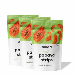 Ginger Lime Papaya Strips (3-Pack)