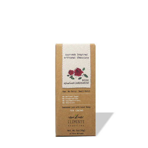 Rose Cardamom Infusion Dark Chocolate Bar
