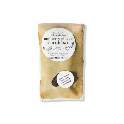 Mulberry Ginger Carob Bar (pack)