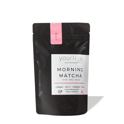 Adaptogenic Morning Matcha Collagen + Probiotic Instant Latte Blend