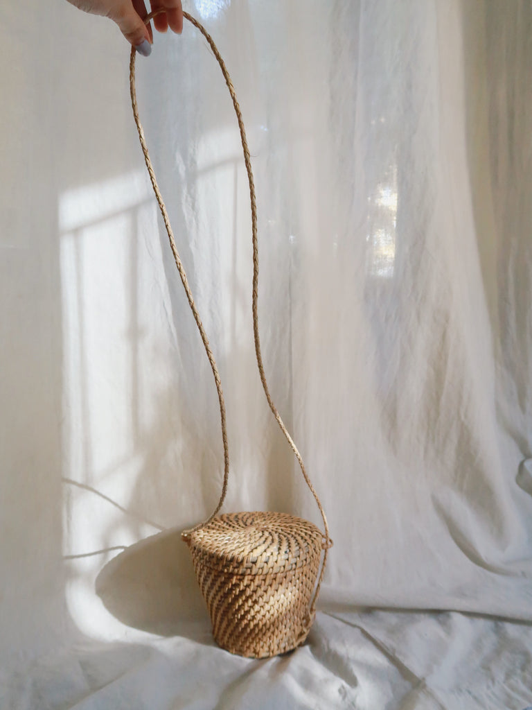 SALO rattan bucket bag