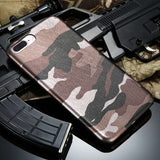 Camo iPhone Case - Brown Green Blue & Purple