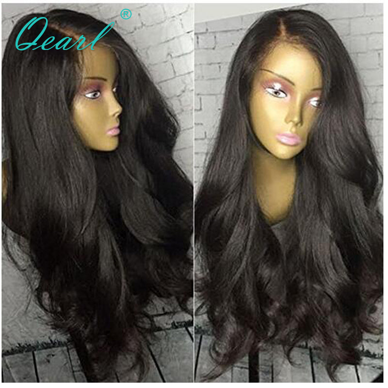 250% Thick Side Part 360 Lace Frontal Wig Brazilian Body Wave Heavy Full  Virgin Hair ... e9757b87b1