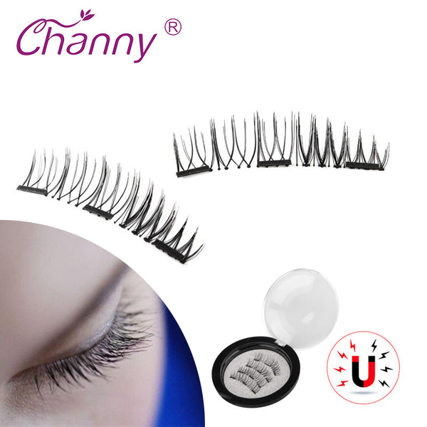 a16a2d7aed2 4 Pcs/Pairs 3D Magnetic False Fake Eyelashes Extension Eye Beauty Makeup  Accessories Soft Hair ...