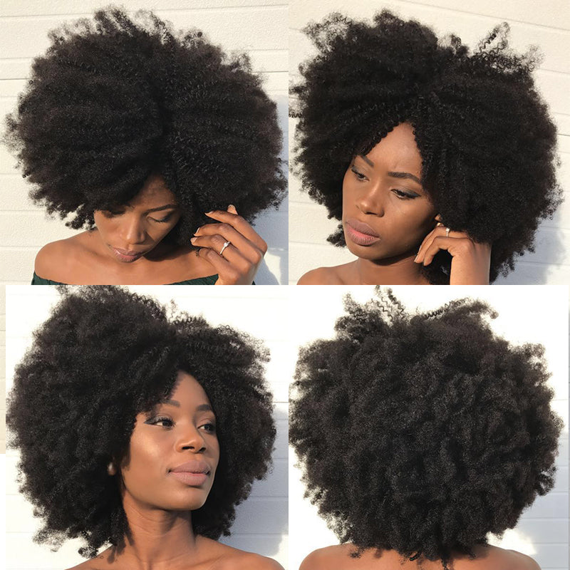 4b 4c Afro Kinky Curly Clip In Human Hair Extensions Brazilian Remy