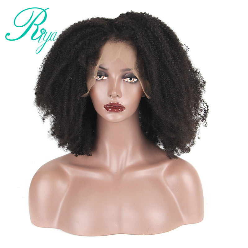 ... Afro Kinky Curly Lace Front Wig With Baby Hair Mongolian Virgin Short  Human Hair Wigs With ... a768c8e3f
