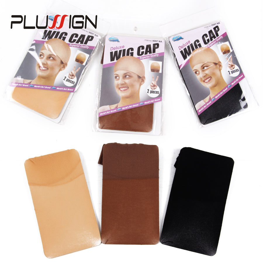 Clearance Quality Deluxe Wig Cap Hair Net For Weave 2 Piecespack