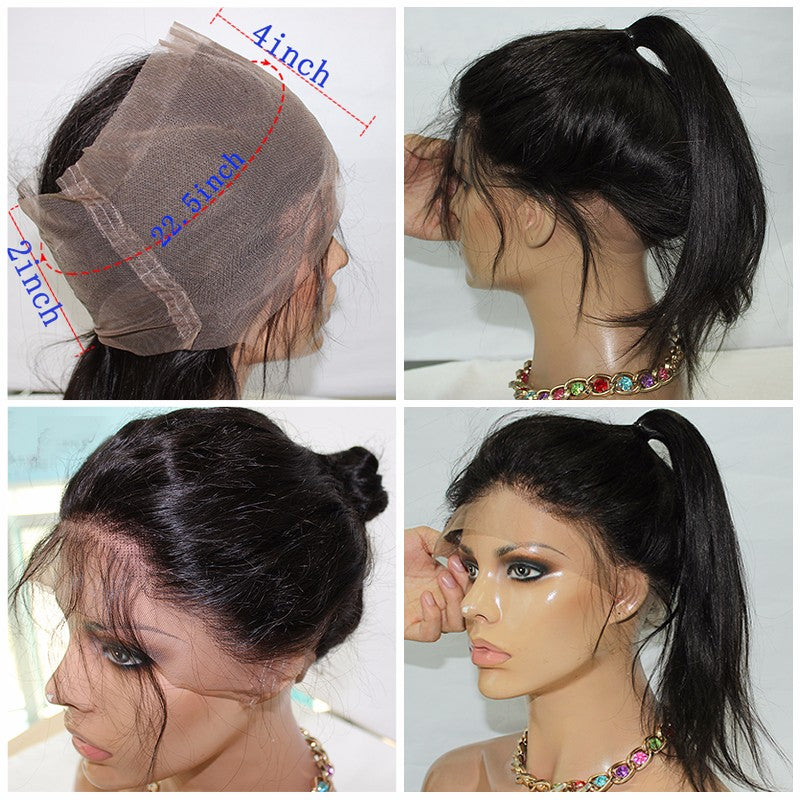 Human Hair Bundles With Closure 3 Brazilian Hair Extensions 360 Lace