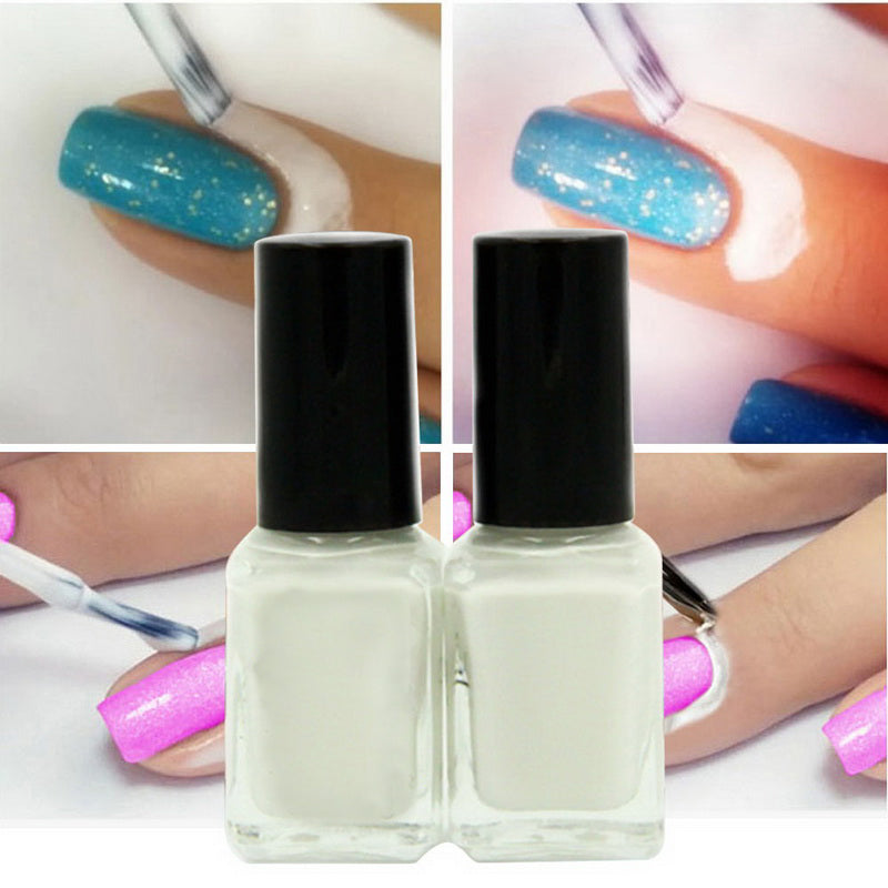Nail Polish Liquid Tearable Anti Overflow Skin Protective Glue Colors Finger White Protector Nails Easy To Clean Cream Nail Art