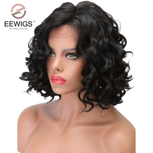 Natural Hair Lace Front Wigs For Black Women Glueless Synthetic Hair