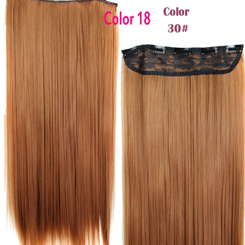 Rockstar Wigs 16colors 24inches Long Straight 5 Clips In Hair