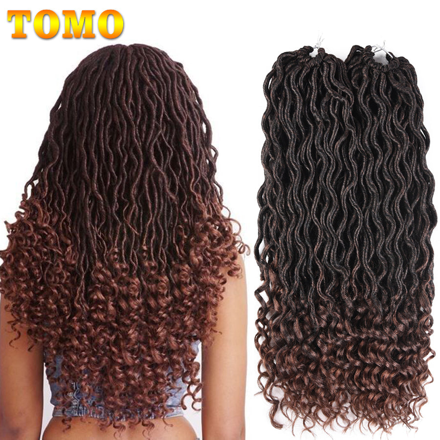Tomo Bohemian Curly Crochet Braids Faux Locs Crochet Hair 18inch 24
