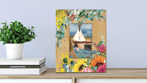 Picture Frame Bamboo Spring Bouquet