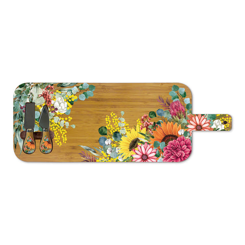 Lisa Pollock Large Cheese Platter in Spring Bouquet