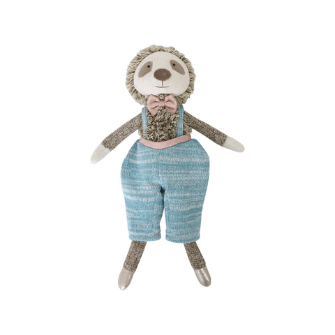 Furry Little Friends Blue Sloth Plush