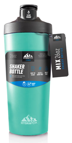 26oz Shaker Bottle - Aqua