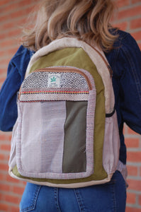 Sturdy Himalayan Hemp Natural Backpack