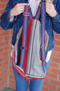 Fair Trade Light Weight Colorful Bohemian Backpack