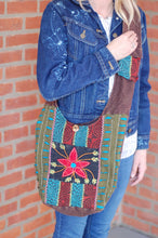 Colorful Large Hobo Shoulder Bag Bohemian Rising  International Fair Trade Purse