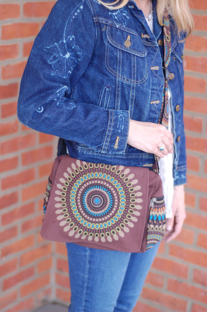 Copy of Across the Body Bohemian Rising  International Messenger Bag Fair Trade Purse