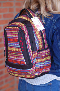 Sturdy Tribal Rising Bohemian Backpack by Kamana