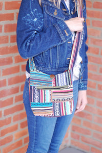 Patchwork Medium Over the Shoulder Bohemian Rising  International Fair Trade Purse