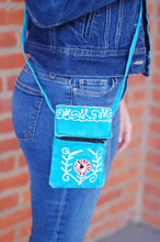 Bohemian Passport Cellphone Embroidered Purse Earth Divas Fair Trade