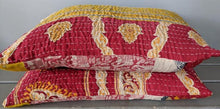 Matching Set Kantha Bed Pillow Shams