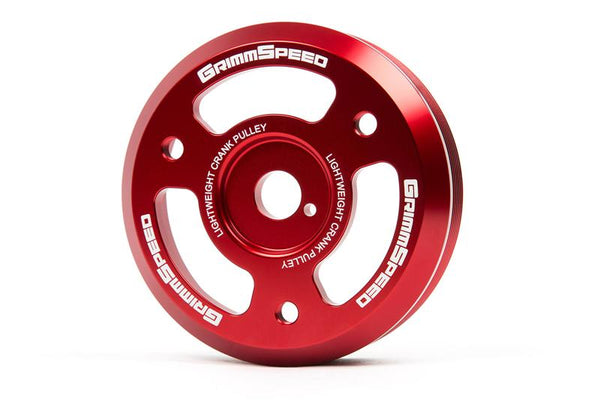GrimmSpeed Red Lightweight Crank Pulley For 2015+ WRX / 2013+ BRZ/FRS/86
