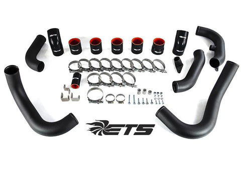 ETS Front Mount Intercooler Piping (Wrinkle Black) for 2008-2014 STI