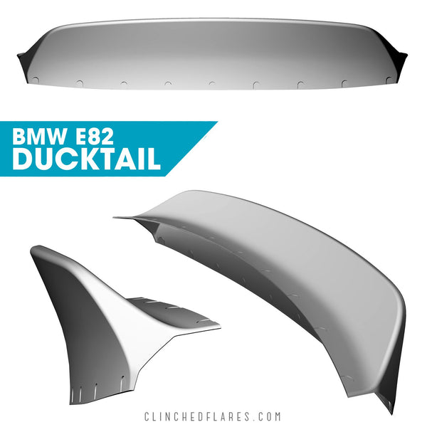 Clinched Flares Duckbill Spoiler for BMW E82 1 Series Coupe