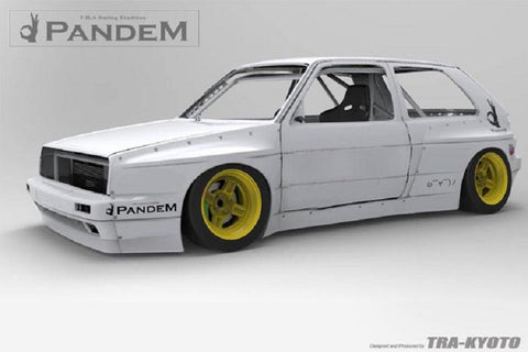 Pandem Side Skirts (Only) For 1985-1992 Volkswagen Golf MK2