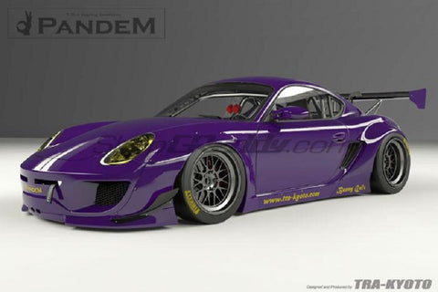 Pandem Rear GT Wing Set (Only) For 2009-2012 Porsche Cayman 987.1