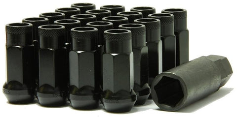 Muteki SR48 Open End Lug Nuts Black 12x1.25