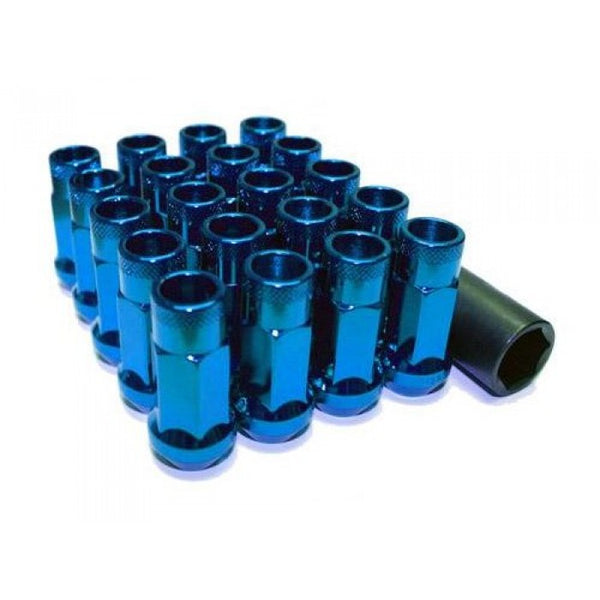 Muteki SR48 Open End Lug Nuts Blue 12x1.50