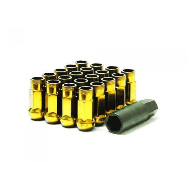 Muteki SR48 Open End Lug Nuts Gold Chrome 12x1.50