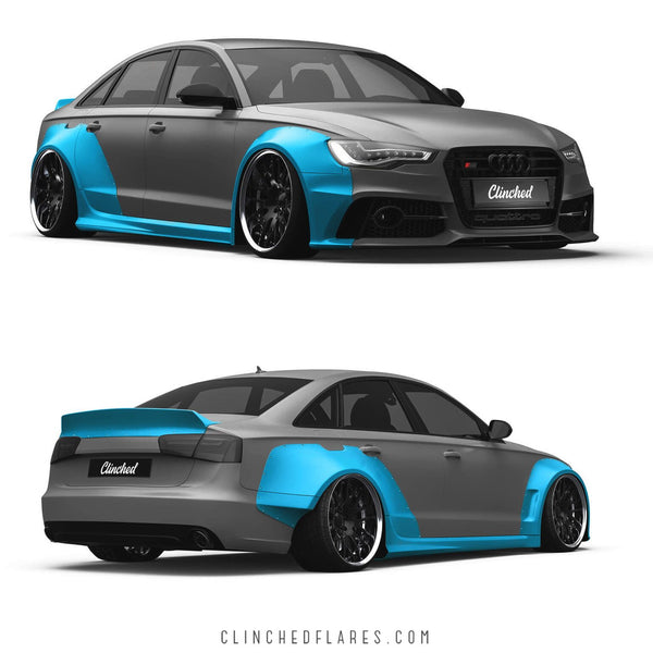 Clinched Flares Widebody Kit for Audi A6, S6 and RS6 (C7) 2012-2018