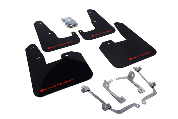 Rally Armor UR Mud Flap w/ Logo For 2011-2014 WRX / 2008-2014 STi (Hatchback Only)
