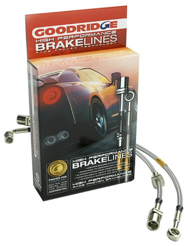 GoodRidge G-Stop Stainless Steel Brake Lines Front and Rear For 2008-2015 Evo X