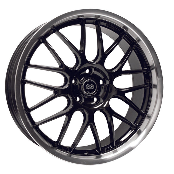 Enkei Lusso 18x8 +40 5x114.3 Black w/ Machined Lip