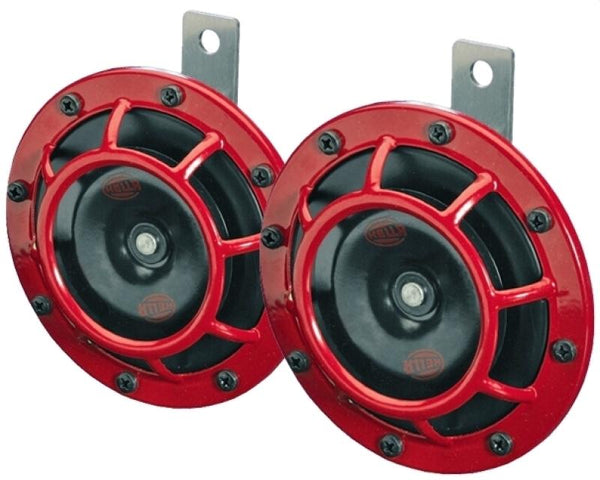 Hella Supertone Horn Kit Pair- Red